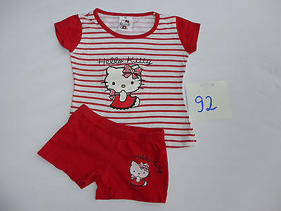 ♥ Hello KITTY ♥ 2 Teile ♥ Shirt + Hose / Short ♥ Gr 98/104 -- Pyjama Schlafanzug
