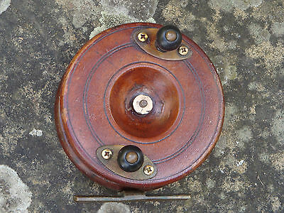 70 plus years old centre pin 4 inch  fishing reel in excellent condition