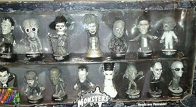 Universal Monsters-Sideshow-Little Big Heads-Silver Screen Edition-Mib-Sealed