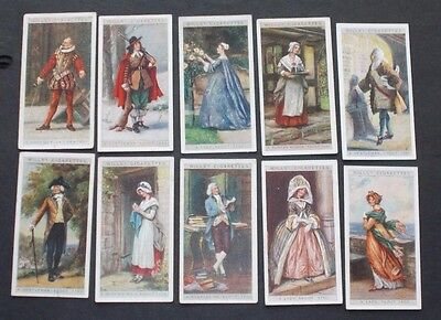 cigarette cards WILLS ENGLISH PERIOD COSTUMES