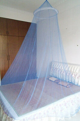 Princess Mosquito Curtain Dome Net Fly Insect Protection Canopy Netting Blue
