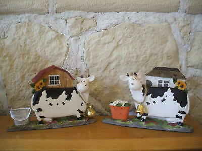 2 VACHE statue figurine de collection décoration résine