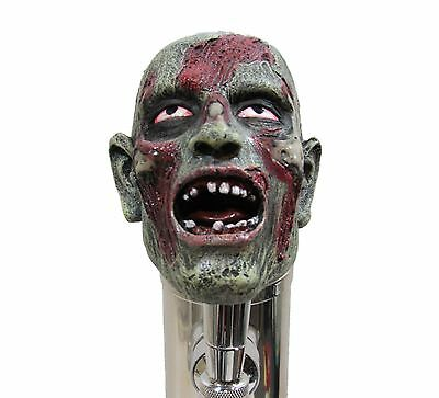 Realistic Zombie Head Beer Tap Handle Sports Bar Kegerator Scary Walking Dead
