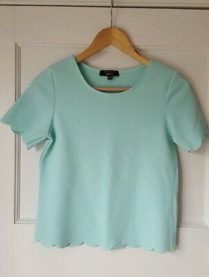 New look 915 generation scallop edge mint top Age 12-13 yrs