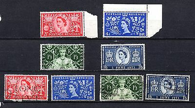Coronation set used and unused from old album,stamps as per scan(2092)