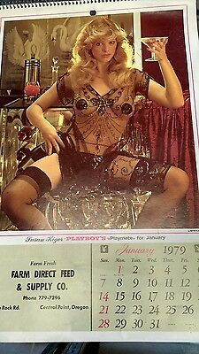 1979 Playboy Farm Direct Feed Wall Calendar Complete Free Shipping