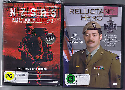 2 DVDs 1 = SELECTION New Zealand Special Air Service & Cpl Apiata Victoria Cross