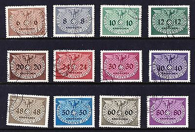 Poland 1940 Gen Government Official Stamps - Full set of 12 used values - (292)