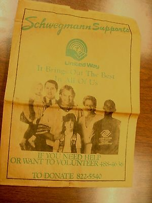 SCHWEGMANN vintage paper bag New Orleans, LA  grocery United Way Archie Manning