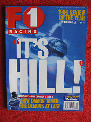 F1 Racing Magazine - It's Hill 1996 Review of the year with 121 pages.