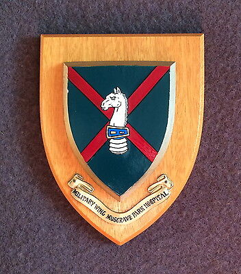 Vintage Military Wing Musgrave Park Hospital Wall Plaque/Shield - Very Good Cond