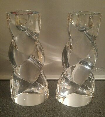Lovely Pair of Lead Crystal Candle Sticks - Slovenia