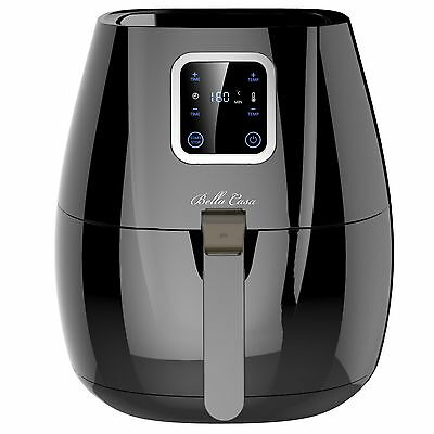 Digital Air Fryer Low Fat Free Frying Deep Healthy Oil Black Kitchen Cooker New