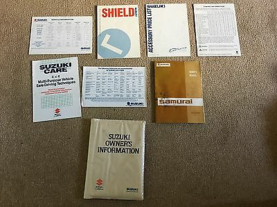 Suzuki SJ 413 Samurai Work Shop Manual / Service Books