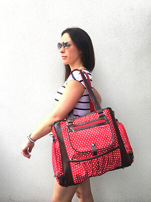 POPULAR Annabelle Baby Bag Nappy Bag Diaper Bag (Large) RED BNWT