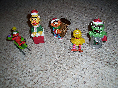 Lot Of 5 Sesame Street Christmas Ornaments