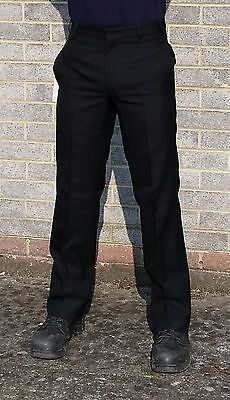 New Police Smart Uniform Black Trousers Thick 100% Wool Prison Officer Security