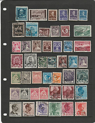 ROMANIA,1930s-40s old collection with better noted , mainly used