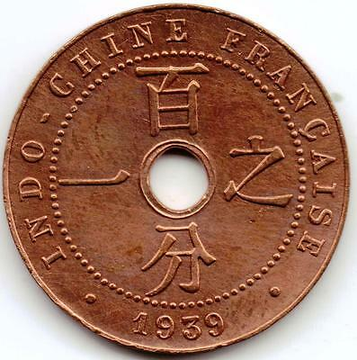 FRENCH INDO CHINE - 1 Cent 1939 ...  (2789)