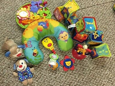 Fisher Price COZY FIT TUMMY WEDGE Activity Mat /Toys / Sensory Lot