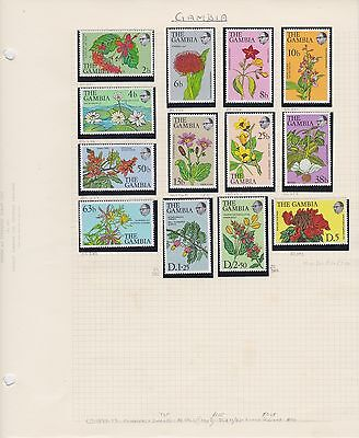 GAMBIA 1977-83 7 album pages mint & used