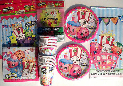 SHOPKINS Birthday Party Supply Pack Kit for 16 w/ Balloons & Loot Bags