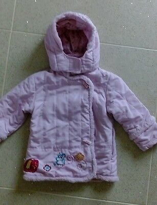 Palomino C & A Girls Pink  Embroidered Coat Size 98cm