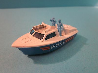 Lesney Matchbox Super Fast. No 52 Police Launch Boat. 1978. Good Condition