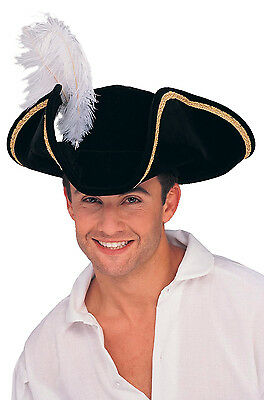 Colonial Historical Tricorn Buccaneer Pirate Hat Accessory