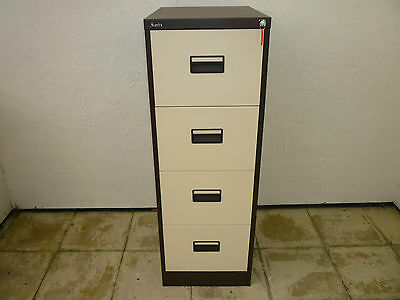 Silverline 4 Drawer Steel Filing Cabinet  with key