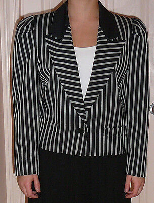 Louis Feraud lightweight lined jacket, vintage 1980s, 55% polyester, 45% wool