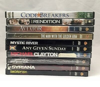Used 10 Assorted DVDs - DRAMA - No Duplicates!
