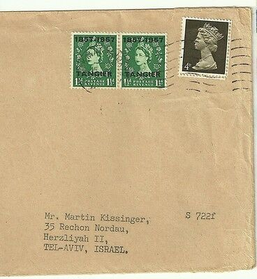 Great Britain Tangier Old Cover Cut Out sent to Israel