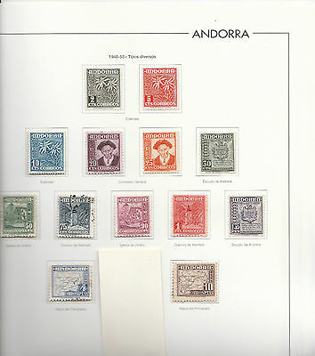 ANDORRA Sp.1948-53 Comp issue 2c - 10p.STC £184  MINT/used