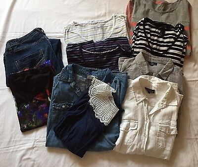 Big Maternity Bundle, Jeans, Tops, Shirts To Fit 10-12