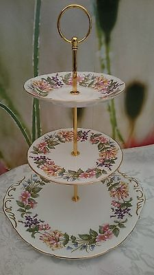 """Vintage Style Shabby Chic 3 Tier cake stand """"Country Lane"""""""