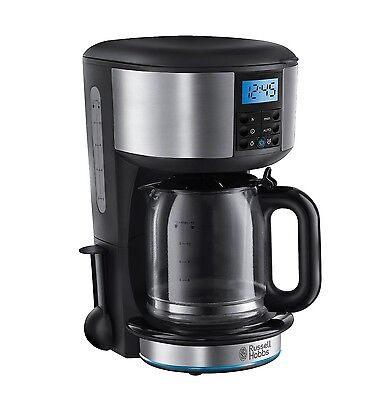 Russell Hobbs 20680 Buckingham 1.25L Filter Coffee Maker Machine with 24hr Timer