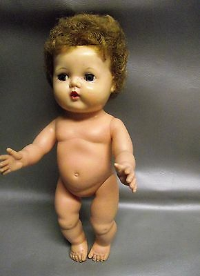 Doll Tiny Tears 13 inch American Character 1950's no clothes