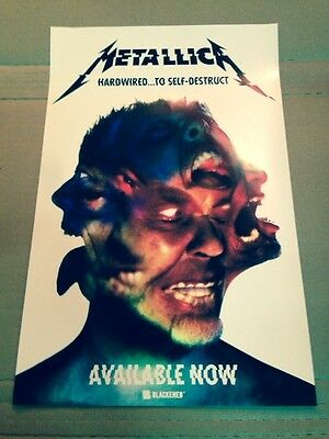 METALLICA Hardwired…To Self-Destruct  Promotional  Poster