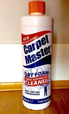 New Improved Formula Carpet & Upholstery Dry Foam Concentrate Cleaner 500ml