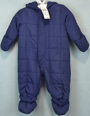 Infant Boy's Blue Snowsuit from First Impressions Size 6-9 Months