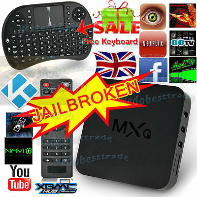NEW MXQ Quad Core Android TV Box Fully Loaded KODI XBMC Free Film Sports Movies