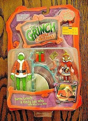 2000--HOW THE GRINCH STOLE CHRISTMAS! w/ Cindy Lou Who (Action Figure) Playmates