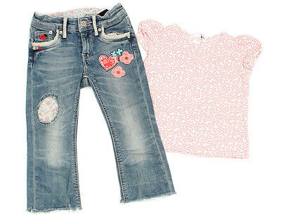 H&M Cropped-Jeans und T-Shirt - 98