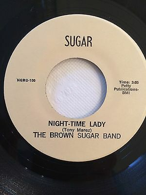 The Brown Sugar Band, Night Time Lady, Very Rare Modern Soul 45