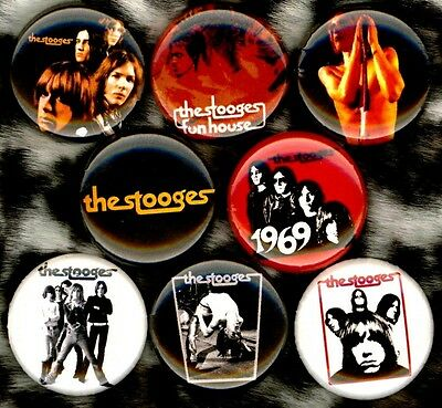Iggy and the Stooges x 8 NEW pins button badge pop funhouse raw power