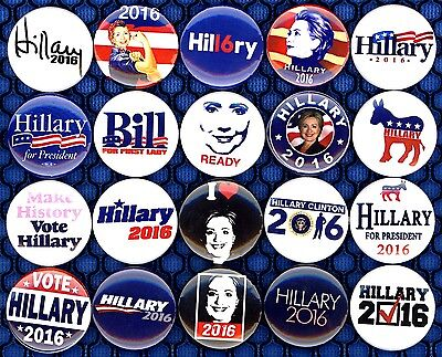 Hillary Clinton 20 NEW pins badge button 2016 I'm ready vote elect political