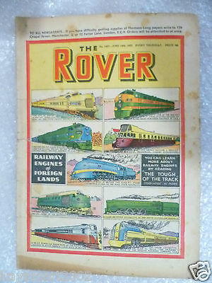 THE ROVER Comic, No.1407, 14th June 1952- Railway Engines of Foreign Lands
