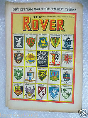 THE ROVER Comic, No.1445, 7th March 1953- School Badges