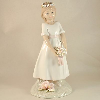 THE LEONARDO COLLECTION Annie Rowe Porcelain Statue Girl Wedding THE BRIDESMAID